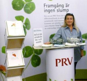 Lena Thörnros i vår monter på Mitt Företag Linköping.