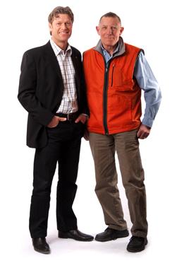 Niklas Karlsson, VD Front, och Didrik Aurenius, uppfinnare.