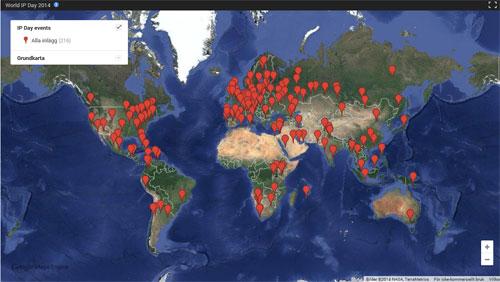 World IP Day 2014. Aktiviteter över världen.