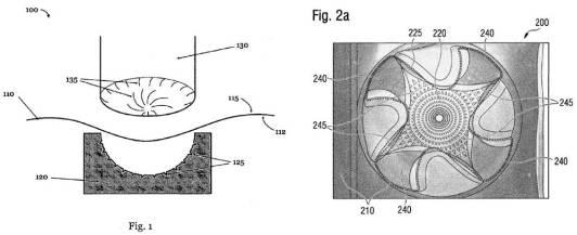 Gjutform och mönster enligt patentansökan.