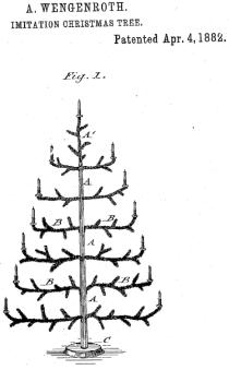 Konstgjord julgran patenterad 1882